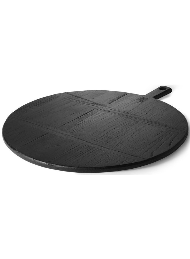 Broodplank black bread board round L