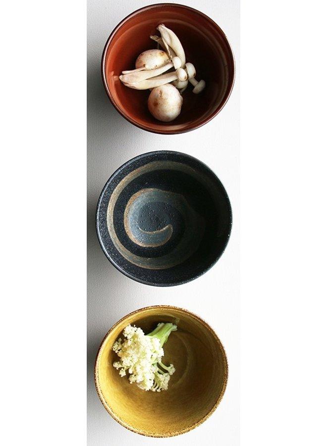 Kom kyoto ceramics: japanese matcha bowl  blauw