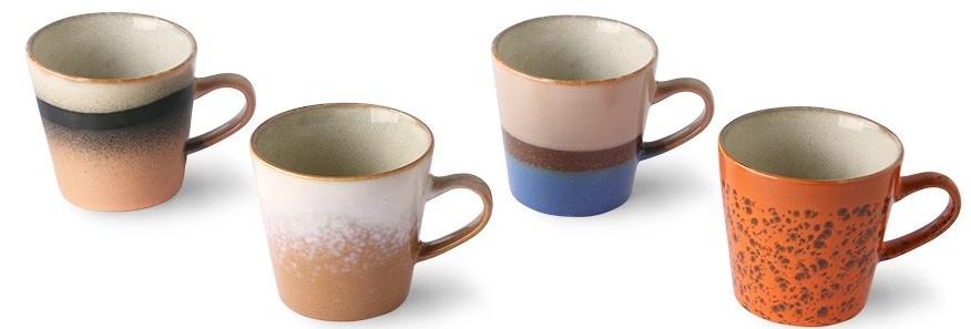 Mok ceramic 70's americano mugs (set of 4)-3