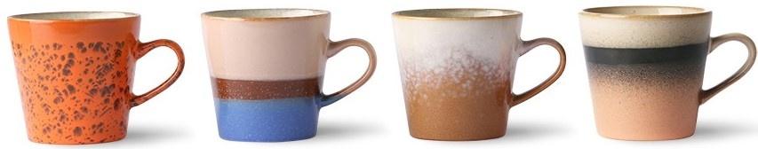 Mok ceramic 70's americano mugs (set of 4)-4