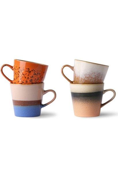 Mok ceramic 70's americano mugs (set of 4)