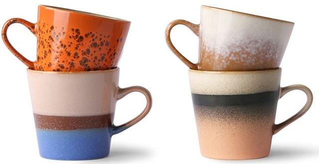 Mok ceramic 70's americano mugs (set of 4)-1