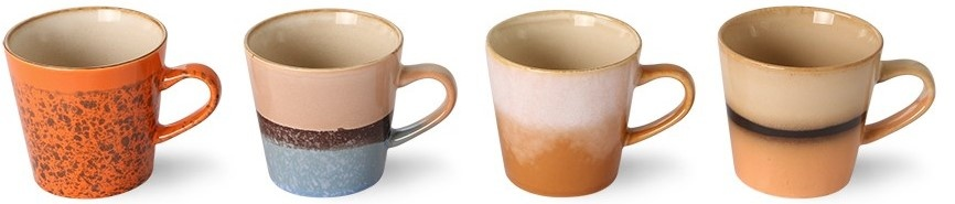 Mok ceramic 70's americano mugs (set of 4)-5