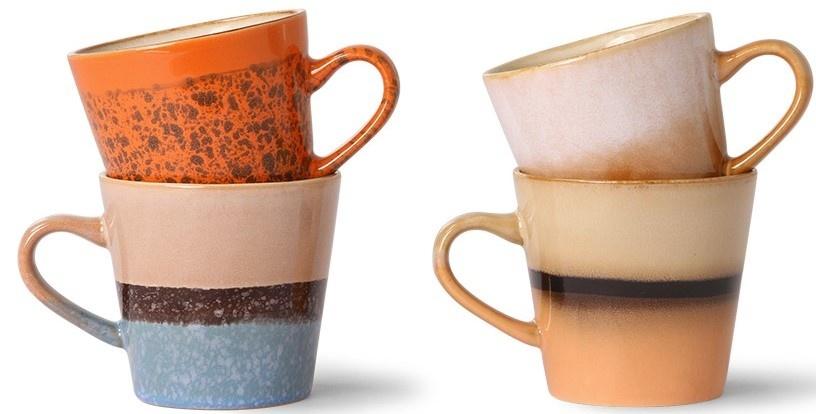 Mok ceramic 70's americano mugs (set of 4)-6