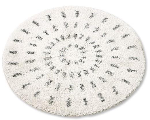 Badmat round bath mat swirl 80cm-3
