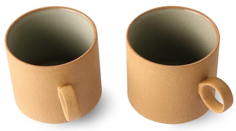 Mok bold & basic ceramics: coffee mug ochre (set of 2)-3