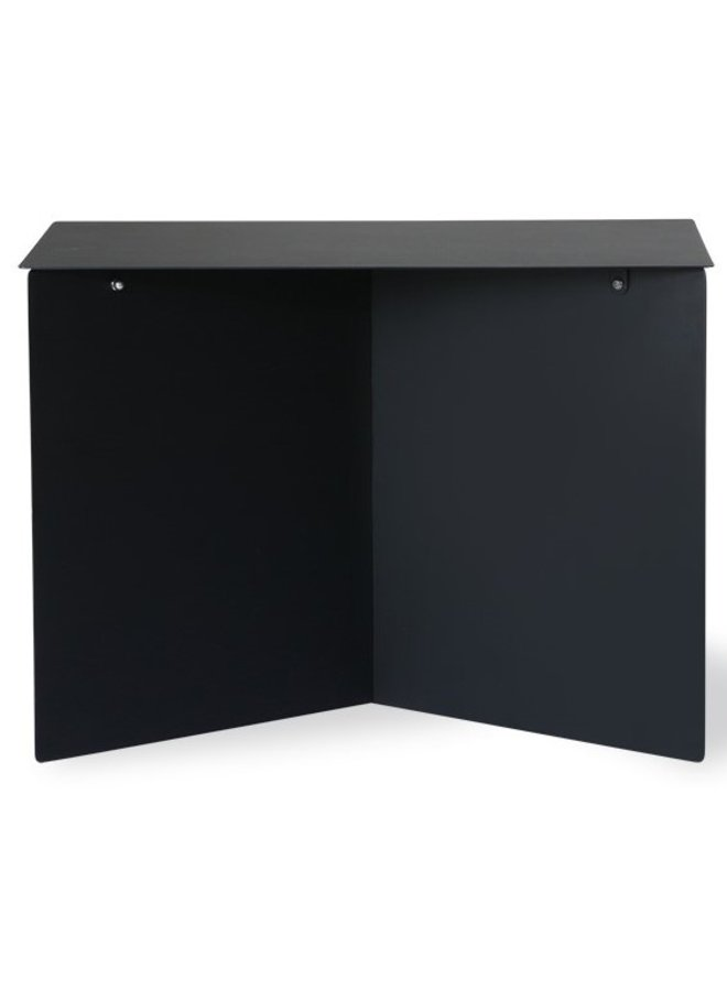 Bijzettafel metal side table rectangular black
