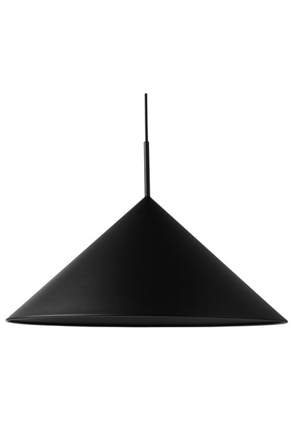 Hanglamp metal triangle pendant lamp L matt black