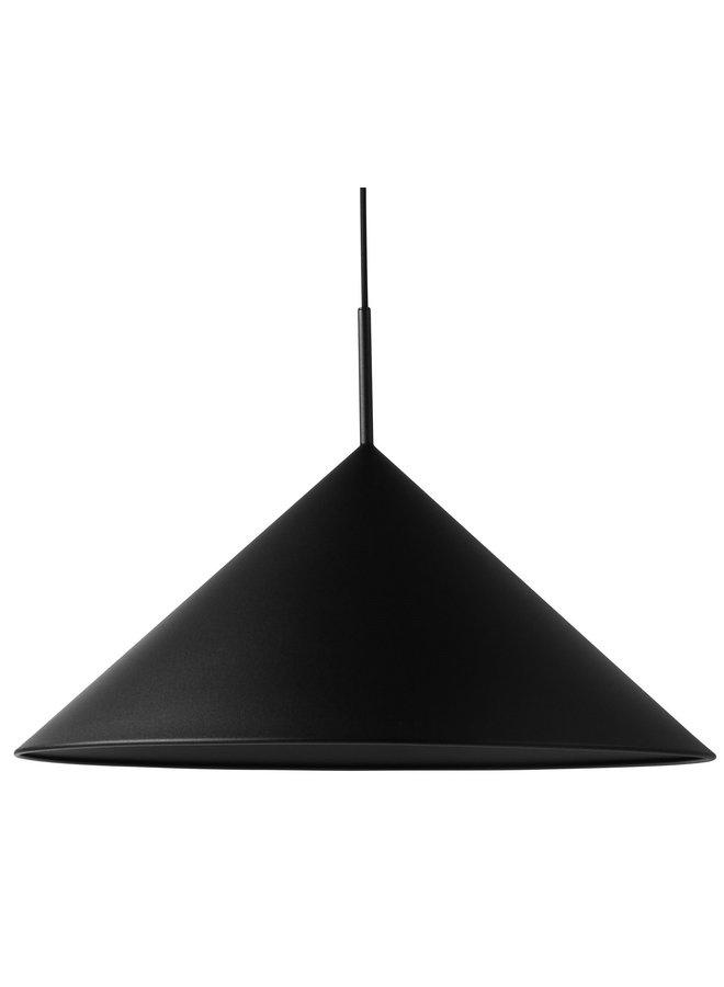 Hanglamp metal triangle pendant lamp L matt black