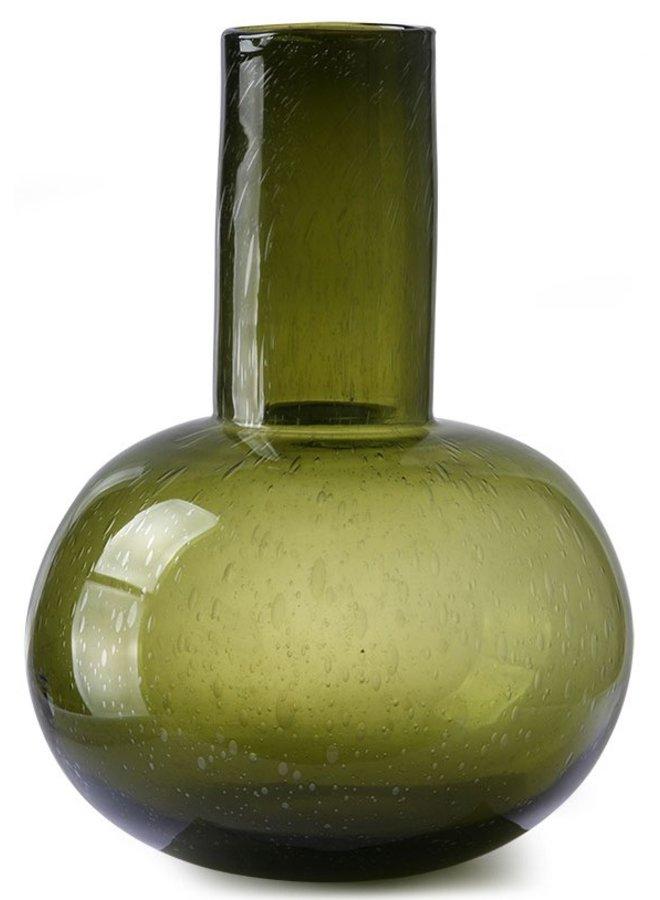 Vaas green glass l