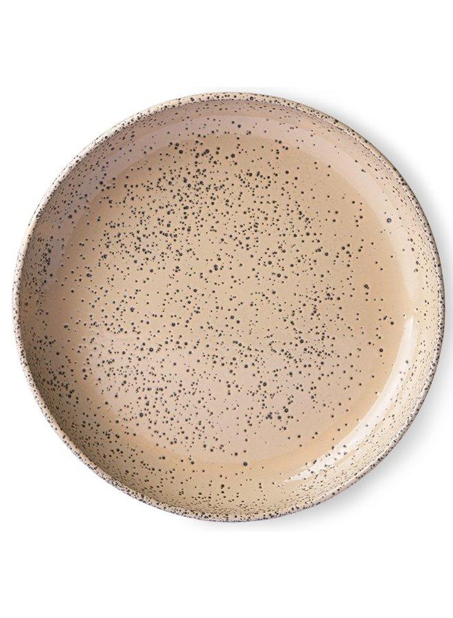 Bord gradient ceramics deep plate taupe