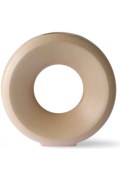 Vaas  ceramic circle vase l sand