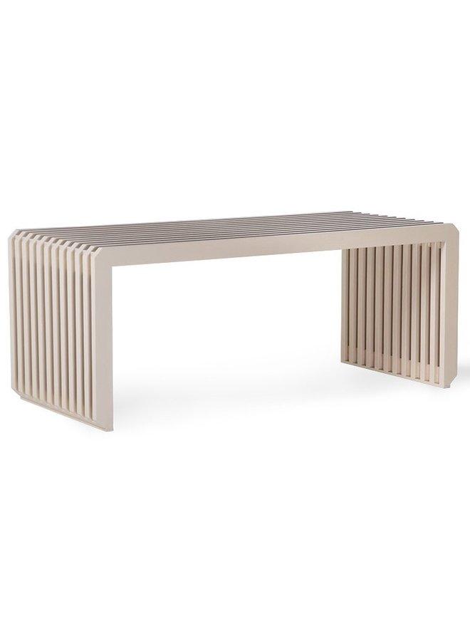Bank slatted bench/element sand