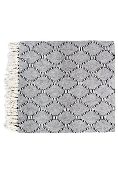Bedsprei bedspread black/white diamonds (260x250cm)
