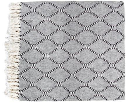Bedsprei bedspread black/white diamonds (260x250cm)-1