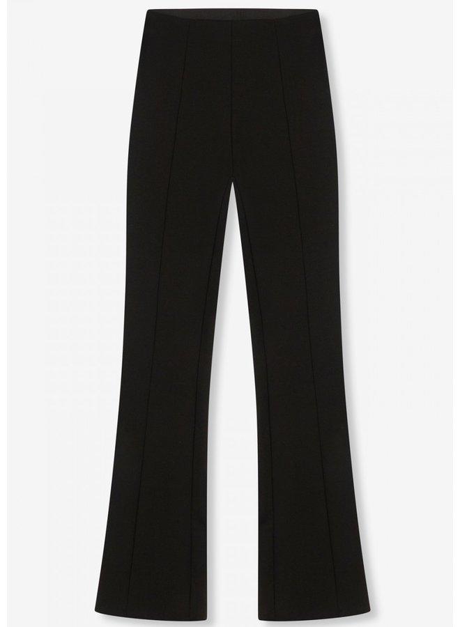 Broek ladies knitted flared pants black