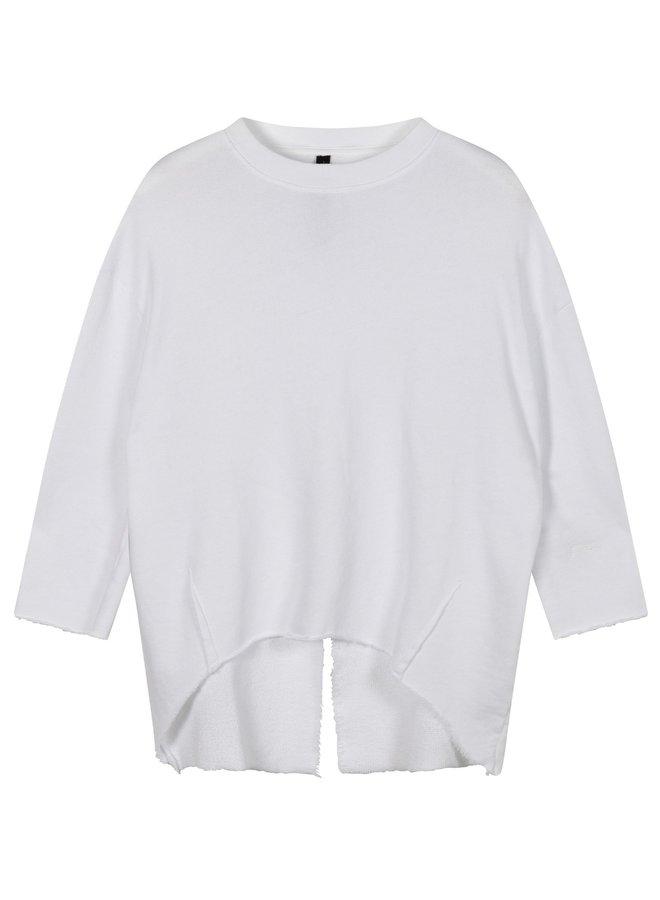 Trui sweater split white
