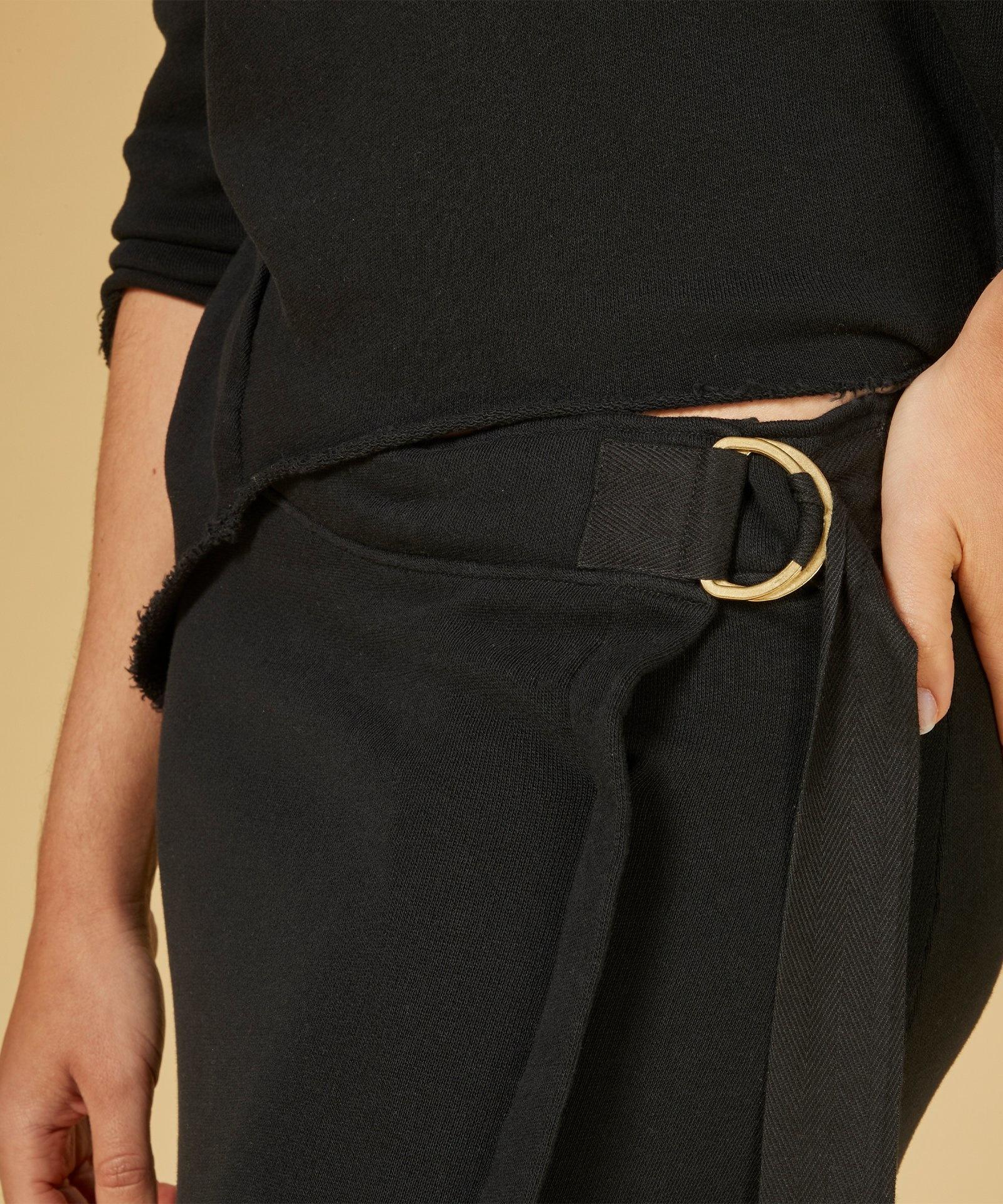 Rok belted long skirt black-5