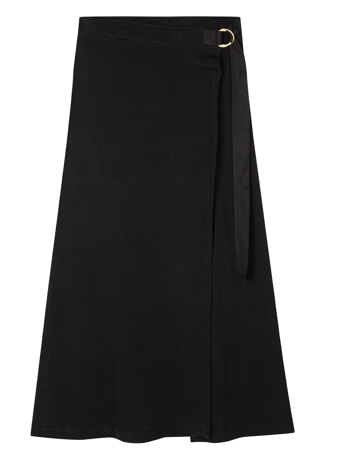 Rok belted long skirt black-2