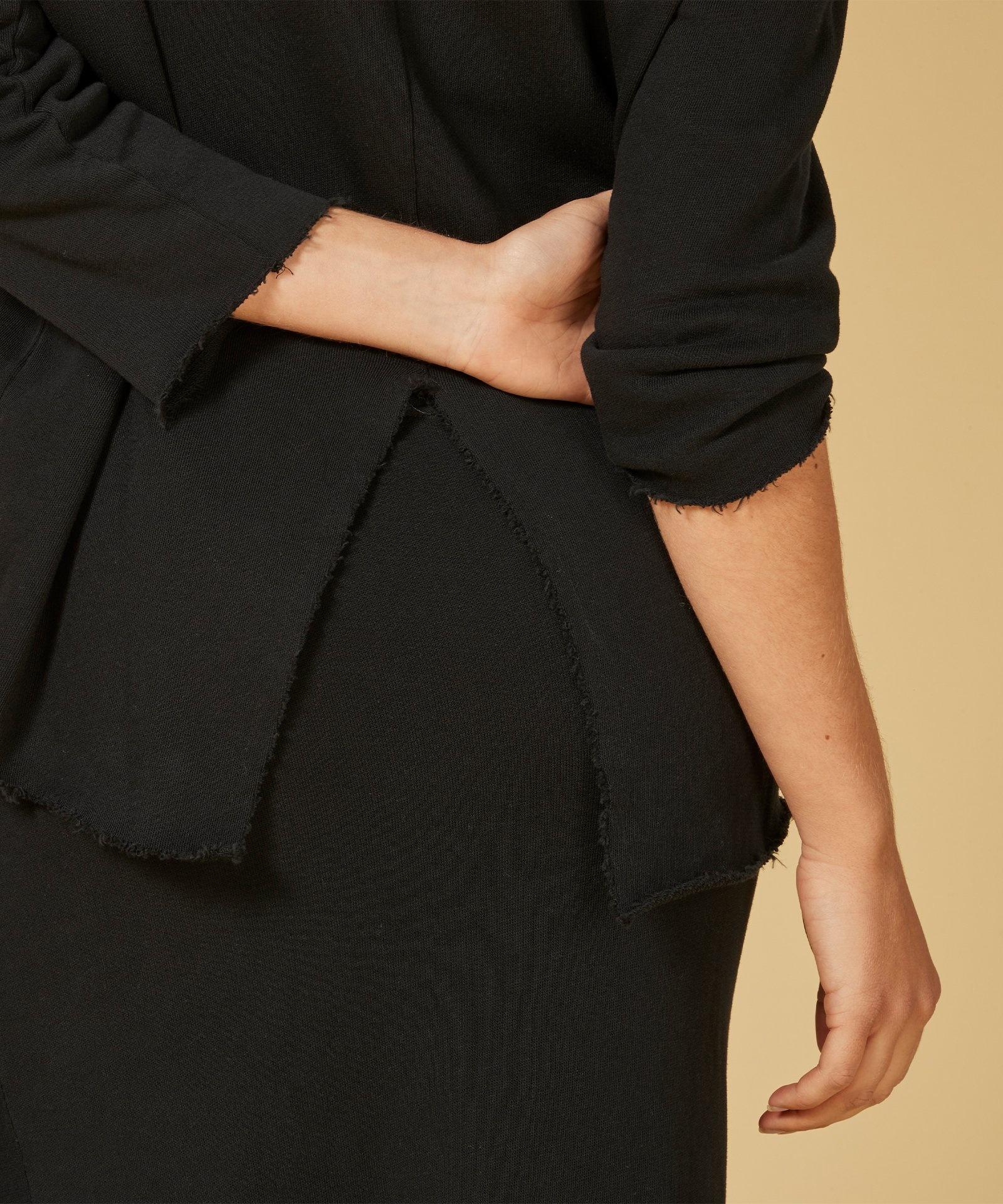 Trui sweater split black-5