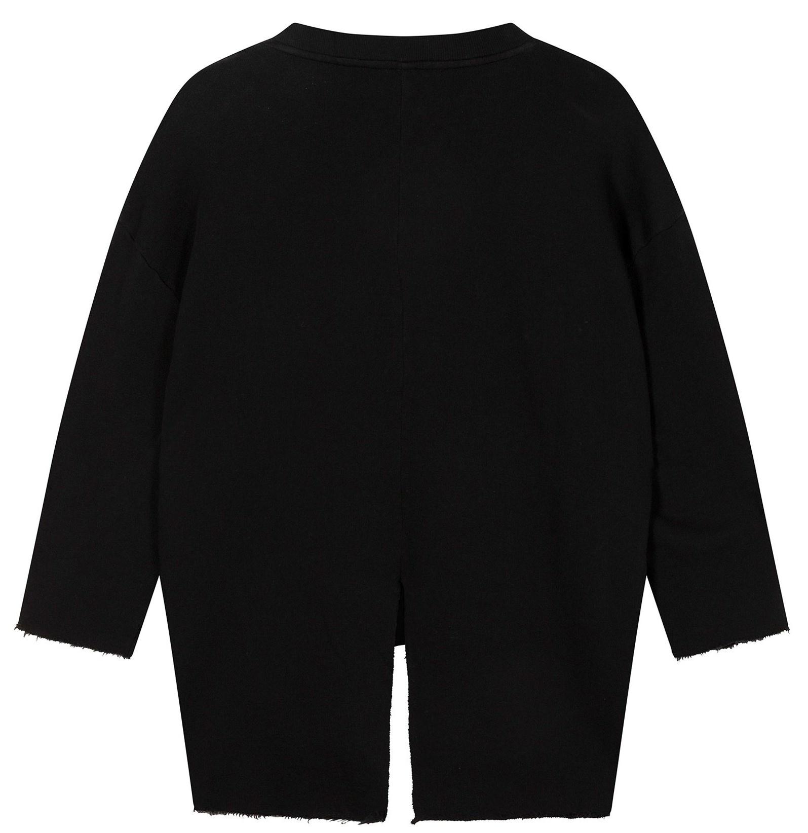 Trui sweater split black-4