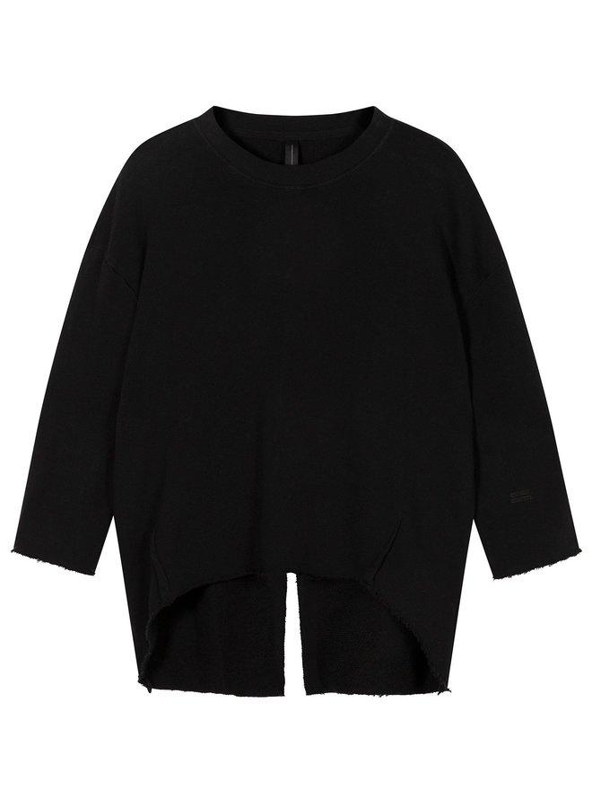 Trui sweater split black