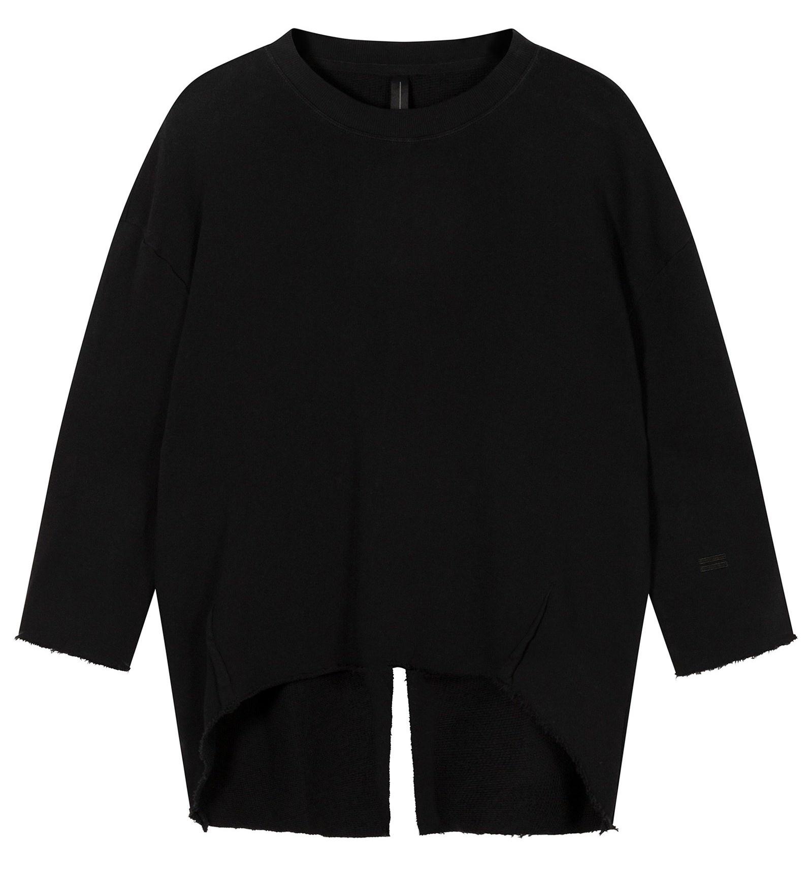 Trui sweater split black-1
