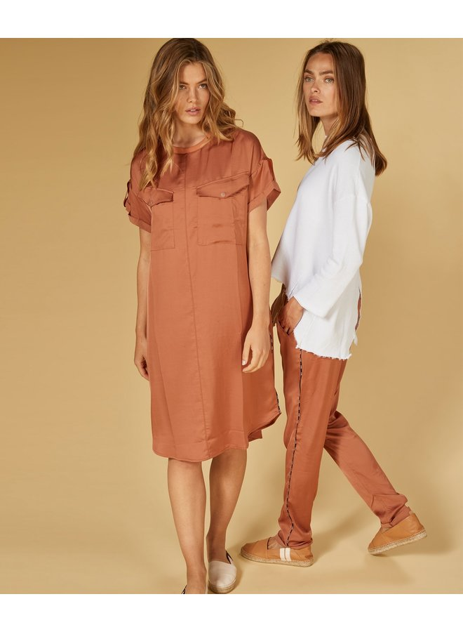 Jurk dress copper brown