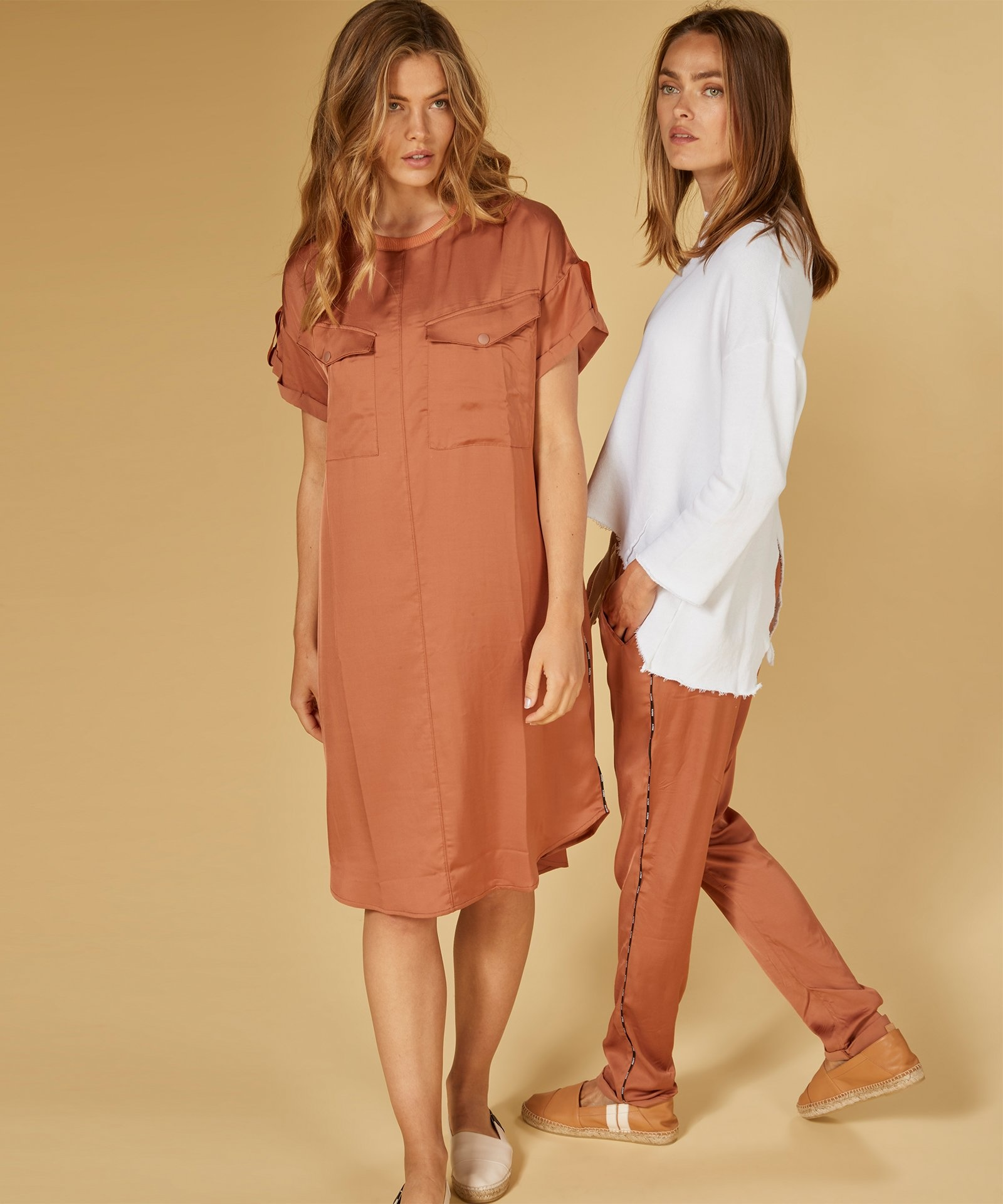 Jurk dress copper brown-6