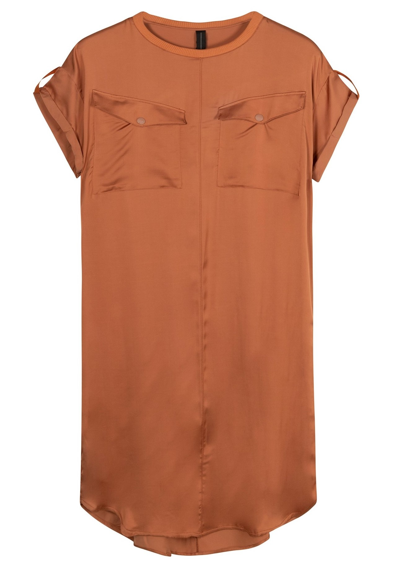 Jurk dress copper brown-2
