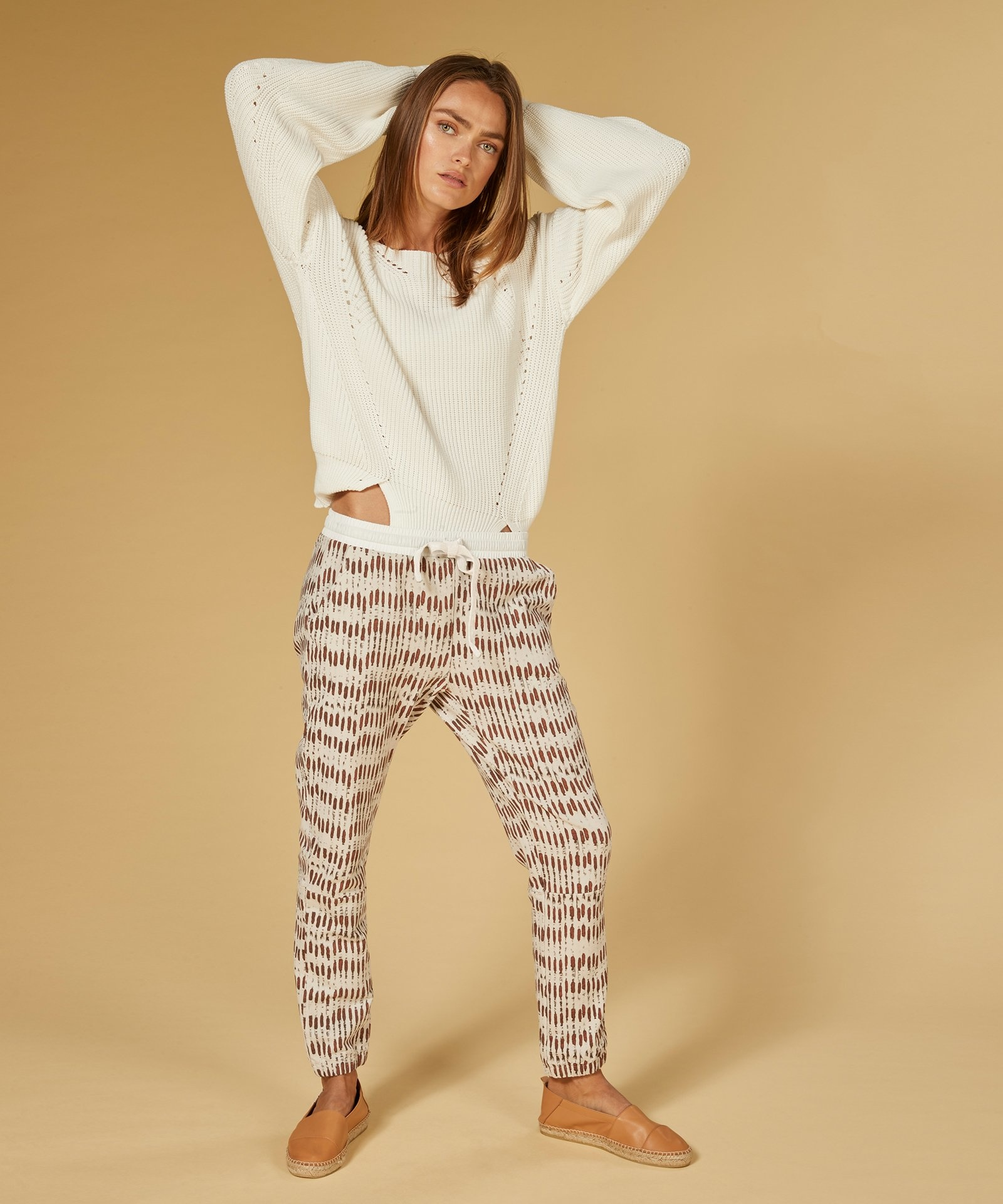 Trui sweater cotton knit white-6