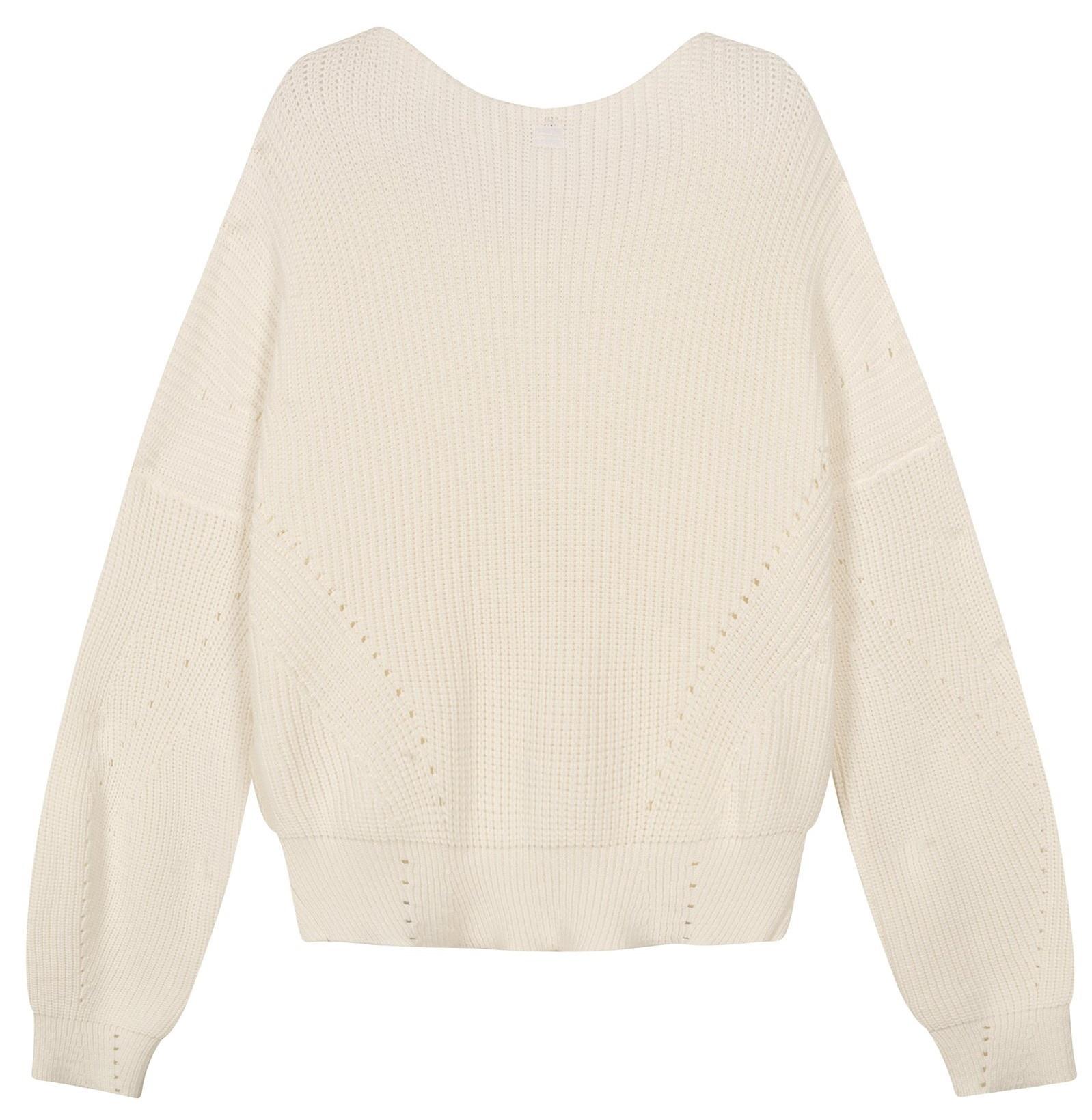 Trui sweater cotton knit white-4