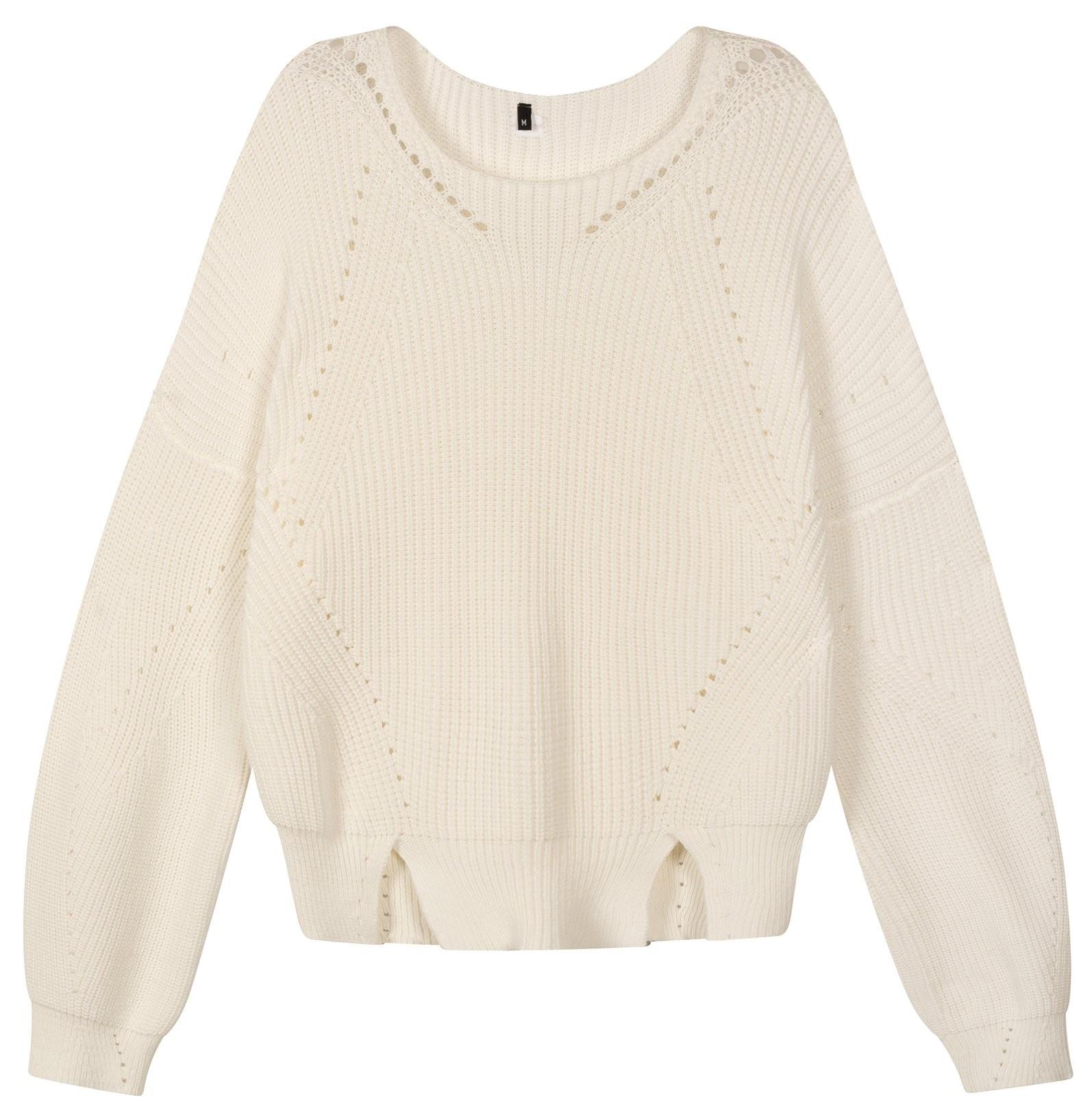 Trui sweater cotton knit white-1