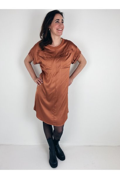 Jurk dress copper brown