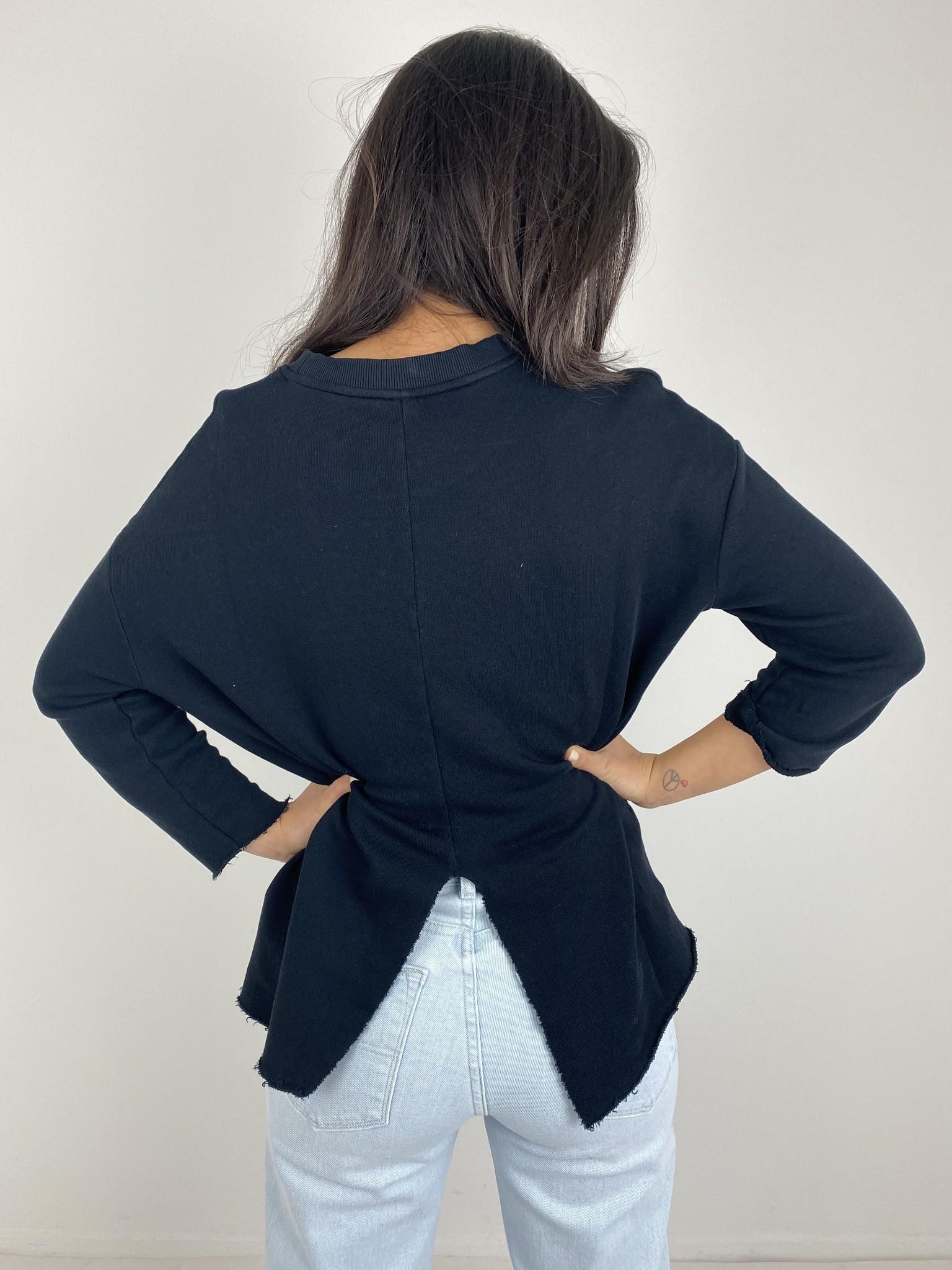 Trui sweater split black-2