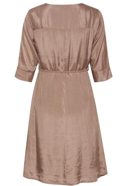 Jurk CRJilva dress eco vero rose brown-3
