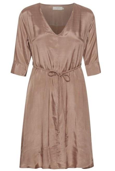 Jurk CRJilva dress eco vero rose brown-2