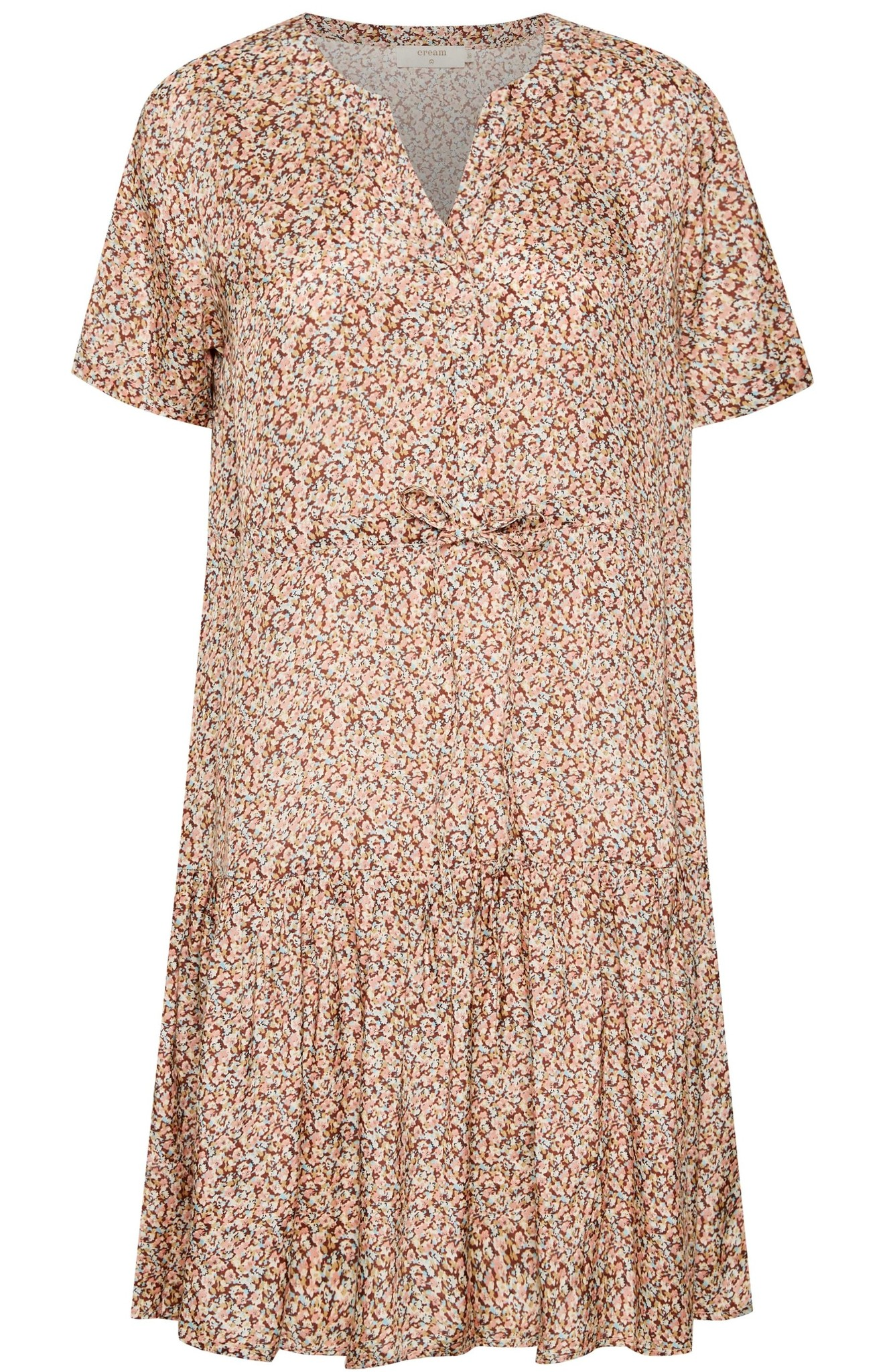 Jurk CRJulia dress small brown flower-1