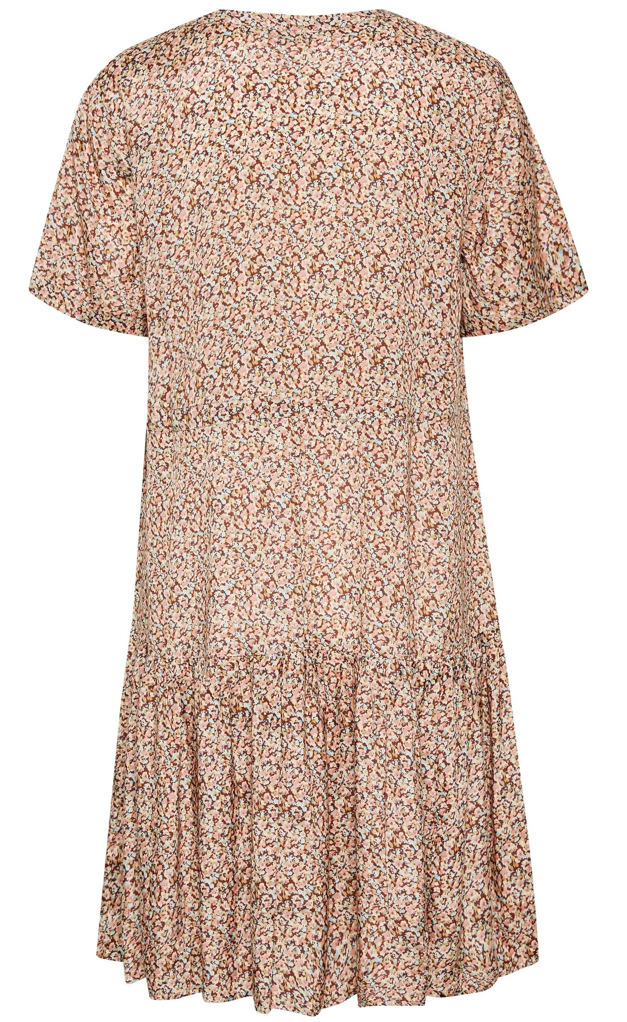 Jurk CRJulia dress small brown flower-3