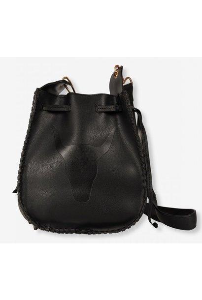 Tas ladies faux leather bag creamy black