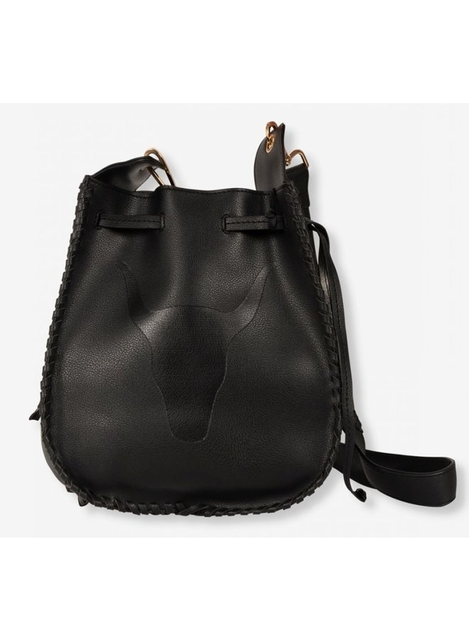 Tas ladies faux leather bag creamy black