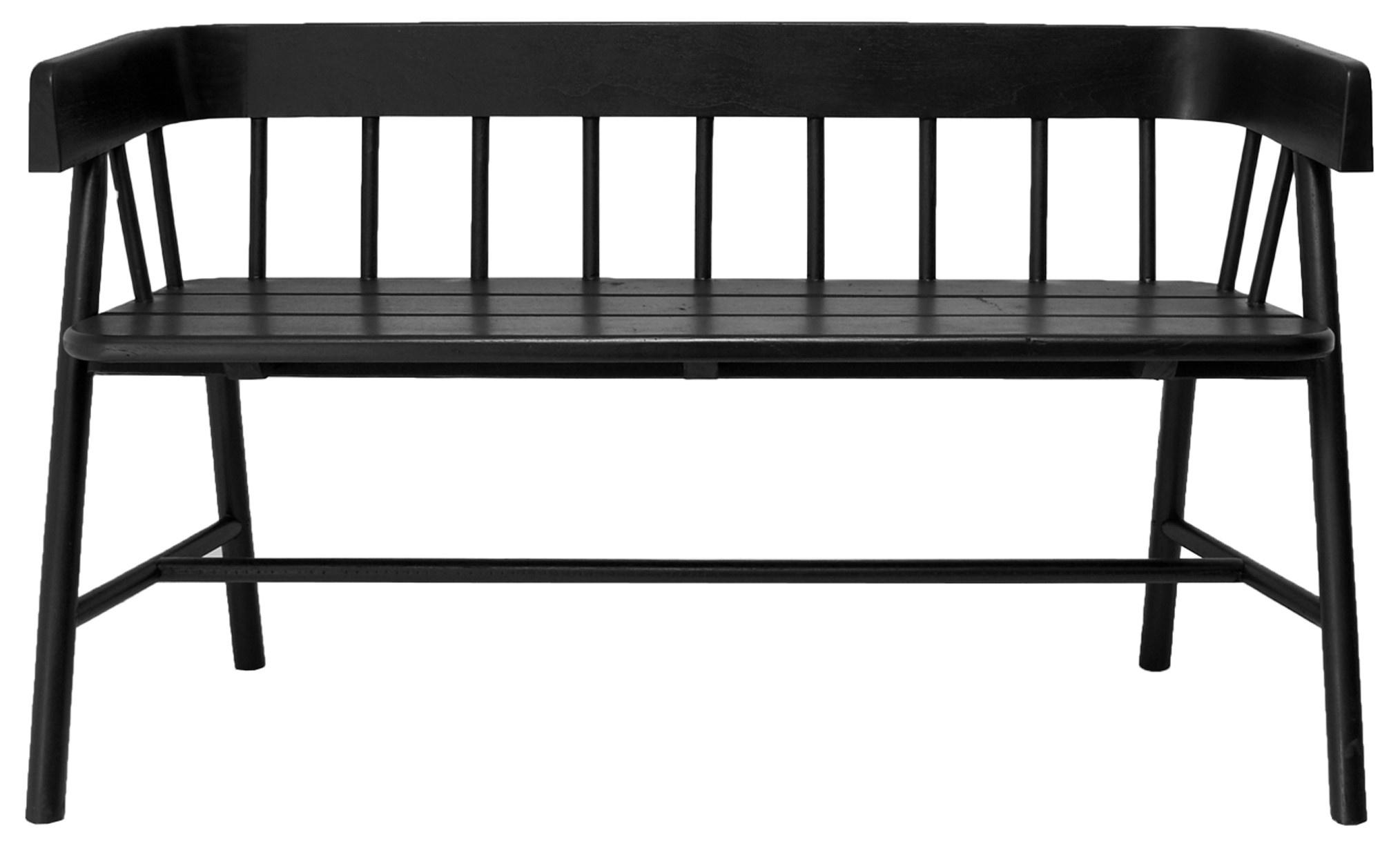 Bank garden bench black-1