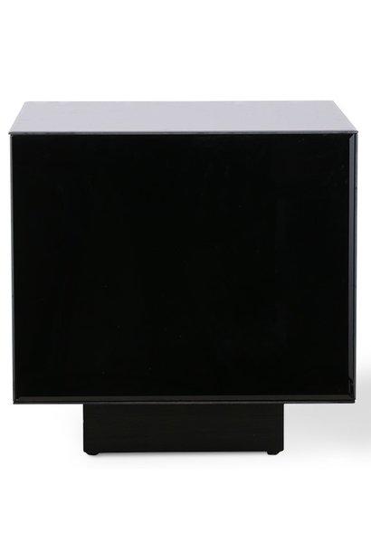 Tafel mirror block black 40x40cm