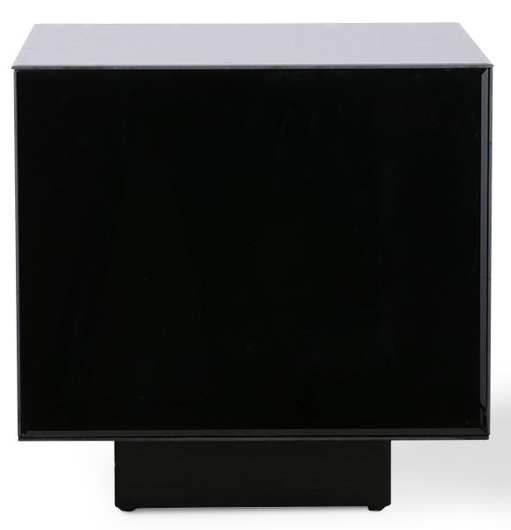 Tafel mirror block black 40x40cm-1