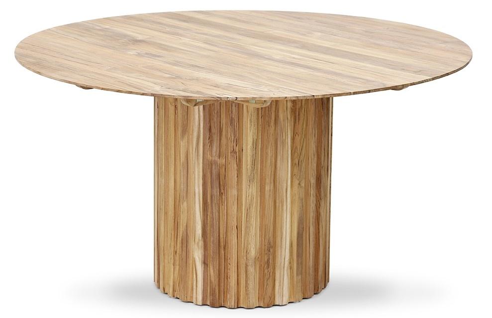 Tafel Pillar round teak-3