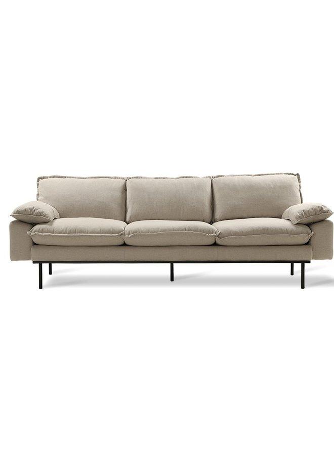 Bank retro sofa: 4-seats, cosy, beige