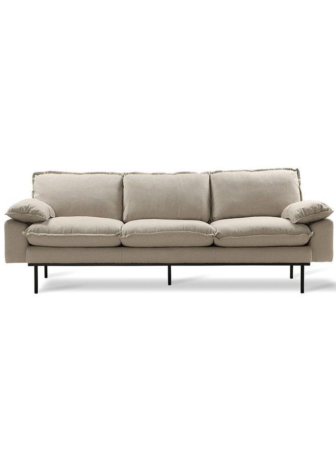 Bank retro sofa: 3-seats, cosy, beige