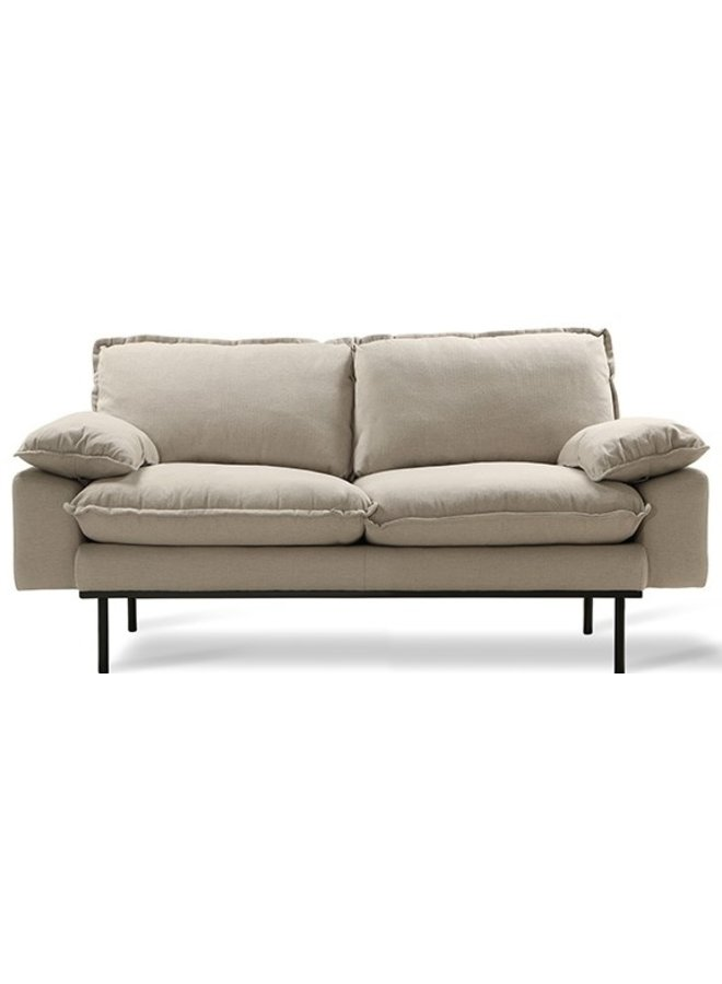 Bank retro sofa: 2-seats, cosy, beige