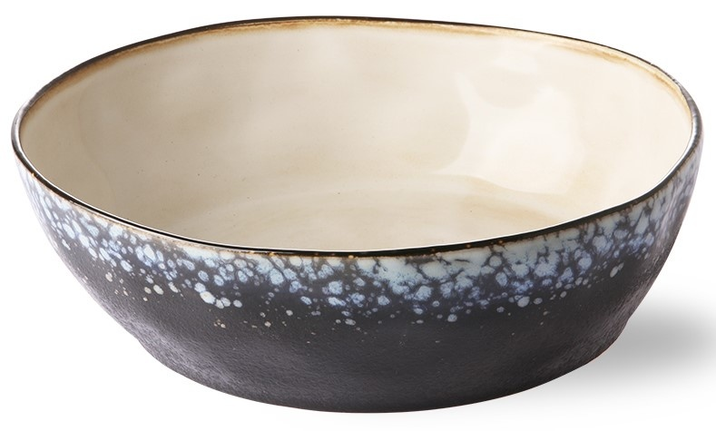 Kom ceramic 70's pasta bowl galaxy (set of 2)-3