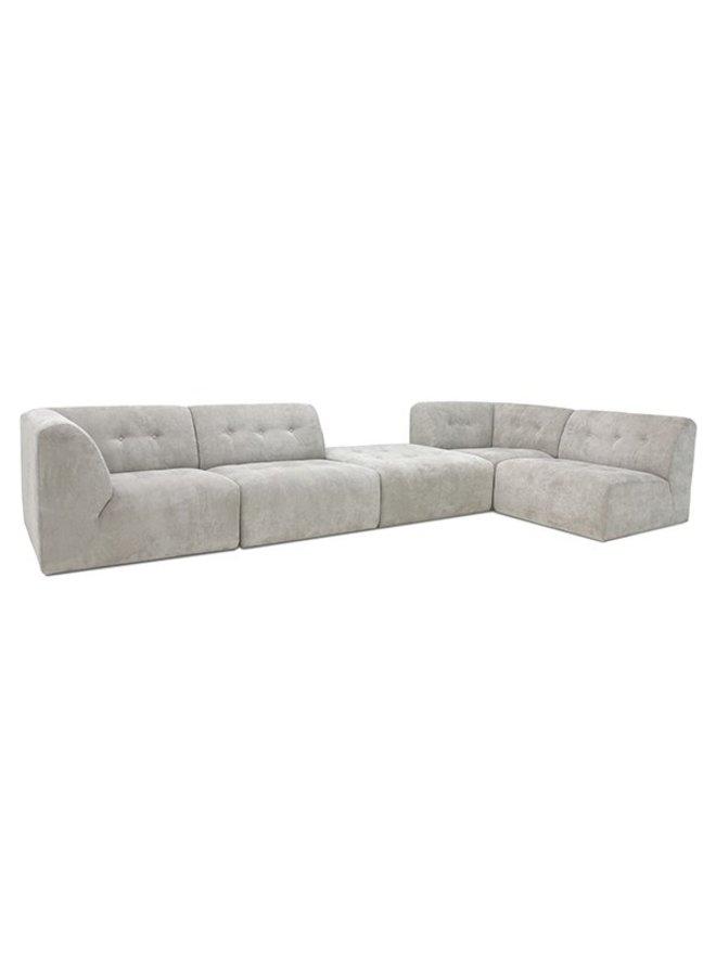 Bank vint couch: element left, corduroy rib, crème